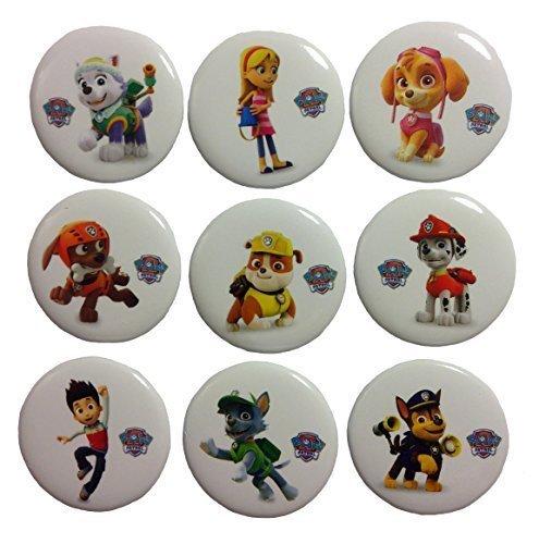 Paw Patrol Buttons Badges 9 Pcs Set #1 (Paul Patrol Games)