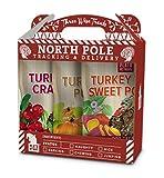 Plato Pet Treats--Turkey Holiday Box: Turkey with Pumpkin, Turkey with Cranberry, Turkey with Sweet Potato, All-Natural, Non-GMO, No Artificial Flavors or Preservatives, Made in USA