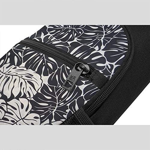ブラック 葉柄 斜め掛け ボディ肩掛け ショルダーバッグ ワンショルダーバッグ メンズ 多機能レジャーバックパック 軽量 大容量