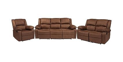Peachy Amazon Com Offex Harmony Series Microfiber Reclining Sofa Ncnpc Chair Design For Home Ncnpcorg