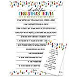 Festive Christmas Party Trivia Game Card (25 Pack) Great for Holiday Parties and Family Gatherings - 12 Minute
