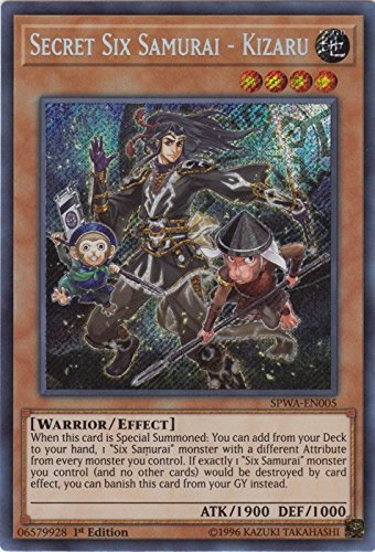 Secret Six Samurai - Kizaru - SPWA-EN005 - Secret Rare - 1st Edition - Spirit Warriors (1st Edition)