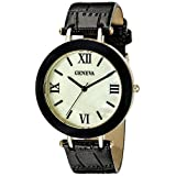 Geneva Women's FMDM323C Analog Display Japanese Quartz Black Watch