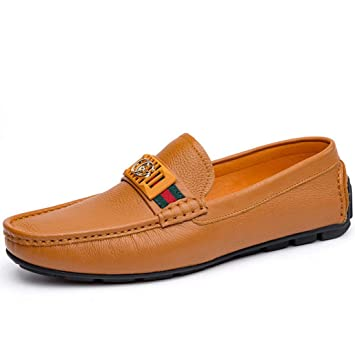 FuweiEncore Zapatos 2018 Autumn New para Hombre, Mocasines y Zapatillas sin Cordones, Zapatos Trend