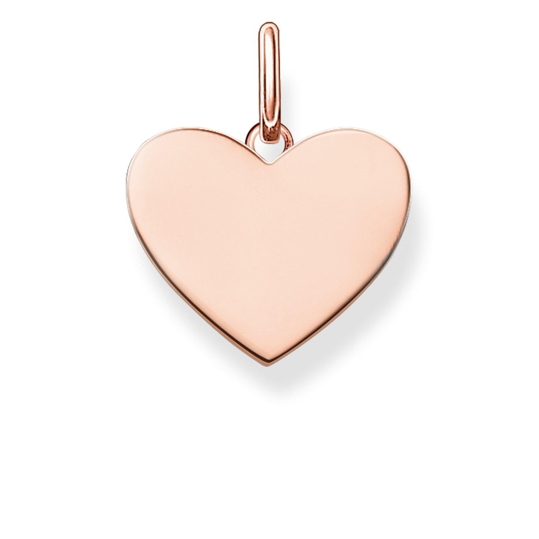 Thomas Sabo Damen-Anhä nger Love Bridge Herz 925 Sterling Silber 750 rosegold vergoldet 1.5 cm LBPE0002-415-12 Thomas Sabo GmbH