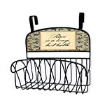 Stupell Home Décor Washroom Over The Door Organizer Basket, 11 x 11 x 6, Proudly Made in USA