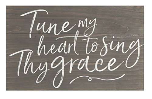Tune My Heart to Sing Thy Grace Distressed 17 x 10.5 Wood Pallet Wall Plaque ()