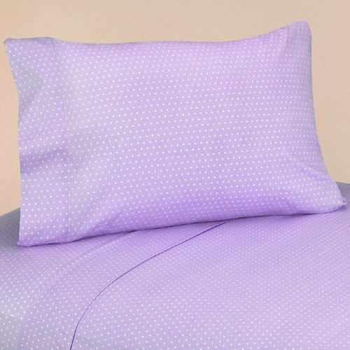 Sweet Jojo Designs 3-Piece Twin Sheet Set for Purple and Brown Mod Dots Bedding Collection