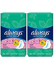 Always Ultra Thin Pads Slender Flexi-Wings 36 Each (Pack of 2)