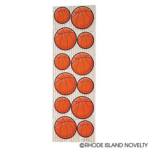 3 docenas (36) hojas de pegatinas de baloncesto (total 432 ...