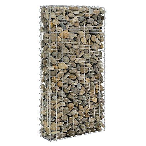 [pro.tec] 1x gavión (200 x 100 x 30 cm) gavión de piedras - cesta de piedras - muro - enrejado: Amazon.es: Hogar