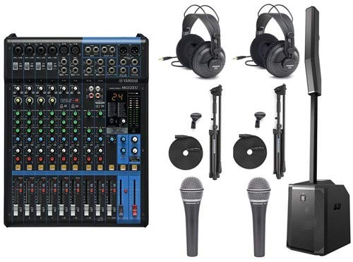 Electro-Voice Evolve 50 with Mixer, Microphones, Headphones, Mic Stands, and Cables - Electro Voice Headphones