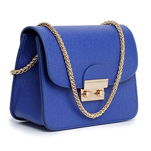 Women Crossbody Bag Chain Shoulder Handbag Leather Clutch Purse With Strap Mini Size by TOYOOSKY