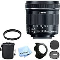 Canon EF-S 10-18mm f/4.5-5.6 IS STM Premium Lens Bundle- International Model