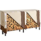 SONGMICS Heavy Duty Log Rack Cover Waterproof Firewood Cover 8ft UGLC96M