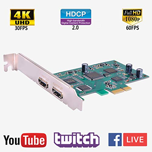 PC Game Capture Card HDMI Video Streaming Recorder PCIE 4K