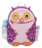 Super Cute Owl Kids Back Pack School Book Bag (PINK)