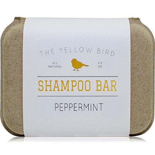 (Peppermint Shampoo Bar Soap. Sulfate Free. Natural and Organic Ingredients. Anti Dandruff, Itchy Scalp, Psoriasis. Includes Conditioning Argan and Jojoba Oils.)