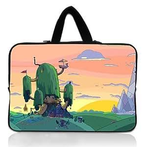 Brinchs Handmadecraft Cute Cartoon 14 14.1 Inch Laptop Handbag with Adventure Time(4) Waterproof Canvas Fabric Laptop / Notebook / MacBook / Ultrabook Computers(Twin Sides)