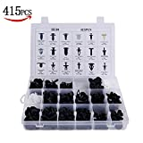 415pcs Auto Clips Assortment Retainer Set -18 MOST Popular Sizes Auto Push Rivets Set Plastic Car Clips & Fasteners Assortment For GM Ford Toyota Honda Chrysler