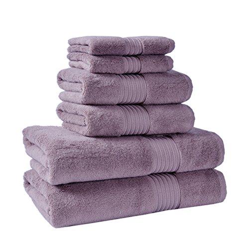 Premium Luxury Hotel & Spa Chicago Towel Set-6 Piece (2 of 12x20 inch; 2 of 20x35 inch; 2 of 28x55 inch) (Orchid) by Casual Avenue (Image #1)