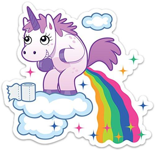 Unicorn Poop Funny Sticker Laptop Decal Rainbow Unicorn Farts Large covid 19 (Rainbow Vinyl Laptop Skin coronavirus)