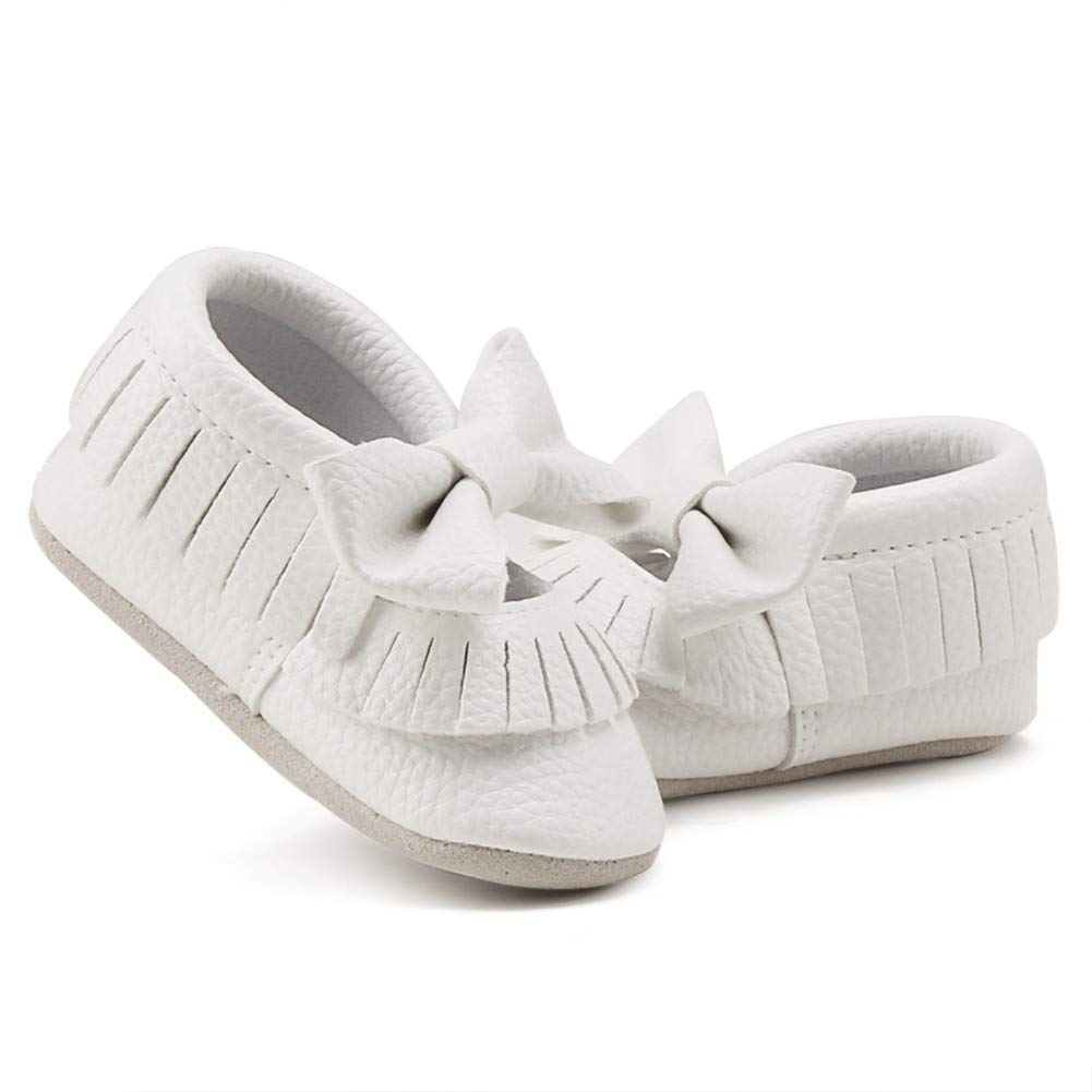 Baby boy Baby Girl Leather Shoes PU Classic Bow Design Toddler Infant Sneaker