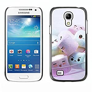 Paccase / SLIM PC / Aliminium Casa Carcasa Funda Case Cover - Cute Marshmellow Friends - Samsung Galaxy S4 Mini i9190 MINI VERSION!
