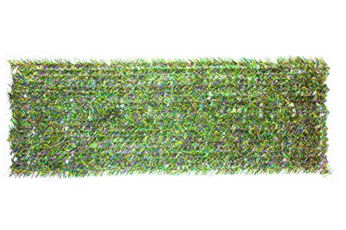 Mardi Gras Garland Wall Panel Parade Float Hanging Wall Decor Festooning Metallic Tinsel Roof Window Backdrop Background Ceiling Covering Retail Display Green Purple & Gold Brush