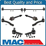 100% New Ball Joints Tie Rods Sway Bar Lnk 8pc