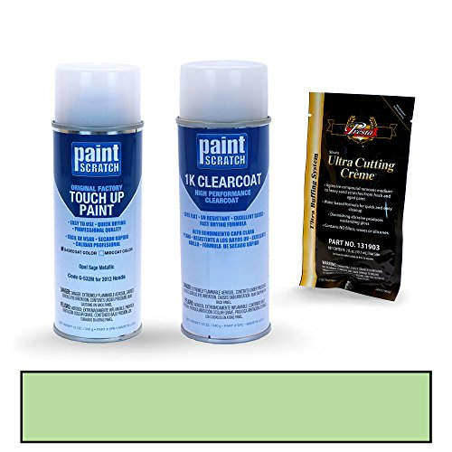 PAINTSCRATCH Opal Sage Metallic G-532M for 2012 Honda CR-V - Touch Up Paint Spray Can Kit - Original Factory OEM Automotive Paint - Color Match Guaranteed