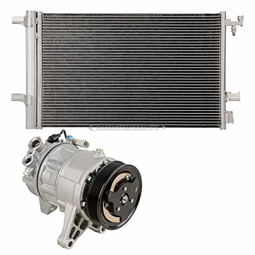 (OEM AC Compressor w/A/C Condenser & Drier For Buick LaCrosse V6 2010 2011 - BuyAutoParts 60-85256RU New)