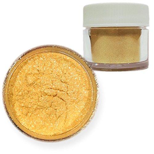 Bakell -BULK 25 Gram Jar- Gold Edible Pearl Luster Fine Grain Pearlized Sparkle Food Grade Metallic Lustre Dust WHOLESALE by Bakell