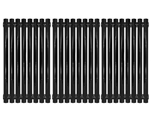 (Hongso PCZ193 Porcelain Steel Channel Cooking Grid Replacement for Gas Grill Model Charbroil 463440109, 463420507, 463420508, 463420509, Kenmore 463420507, Master Chef 199-4759-0, Set of 3)