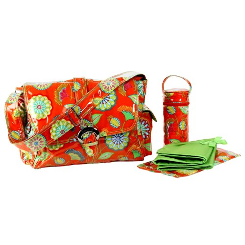 Kalencom Laminated Buckle Bag, Gypsy Rose Orange