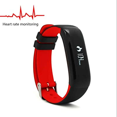 Fintness Tracker Bluetooth Smart Montres Sports Montre,Alertes Appel SMS,Fitness Tracker,Podomètres,Cardiofréquencemètres,Extrêmement Mince Souple,rappel de message pour iOS iPhone,Android Samsung H