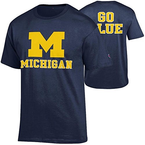 Michigan Wolverines TShirt Back Navy - L