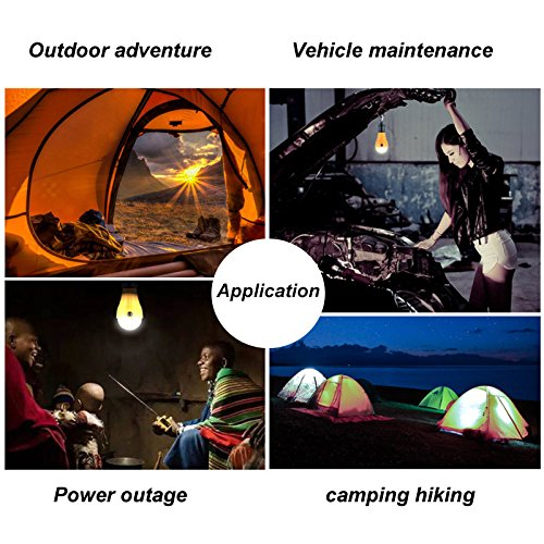 4 Pack LED Camping Lantern Portable Flashlight 3 Modes Lamp for Indoor and Outdoor Decoration Backpacking Camping Fishing Gear Tent Bulb Courtyard Emergency Light Battery Powered by HANGSUNG (Image #4)