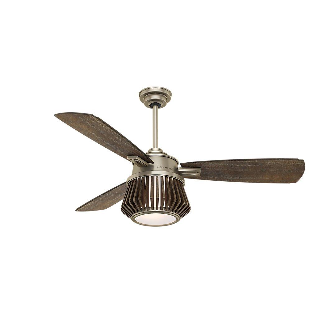 Casablanca 59163 Glen Arbor Indoor Ceiling Fan With Remote Medium Metallic Birch Com