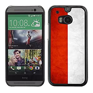 Graphic4You Vintage Indonesian Flag of Indonesia Design Hard Case Cover for HTC One (M8)