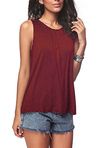 iGENJUN Women's Summer Sleeveless Pleated Back Closure Casual Tank ()