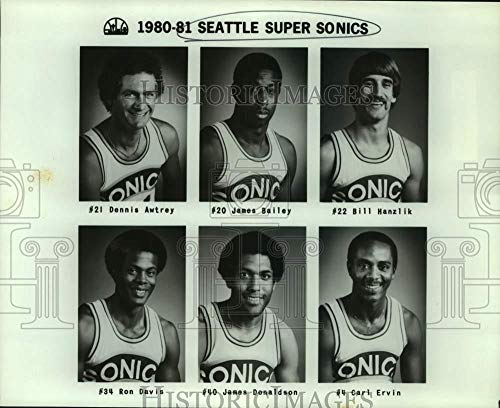 (1980 Press Photo Seattle SuperSonics basketball mug shots - sas17829)