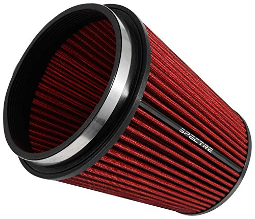 Spectre Performance HPR9891 Universal Clamp-On Air Filter: Round Tapered; 6 in (152 mm) Flange ID; 8.5 in (216 mm) Height; 7.719 in (196 mm) Base; 5.125 in (130 mm) (Velocity Air Filter)