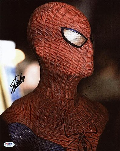 Stan Lee & Andrew Garfield Spider-Man Autographed 11x14 Photo - PSA/DNA Certified - Celebrity Signed Pictures