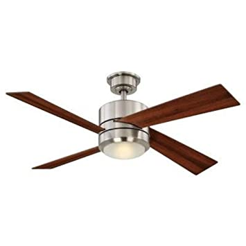 home decorators collection healy 48 in led brushed nickel ceiling fan by home decorators collection - Home Decorators Collection Lighting