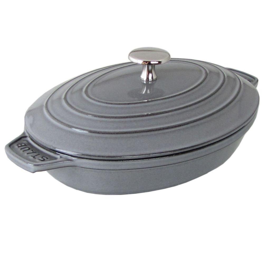 ストウブ 鍋 オーバルホットプレート ラウンド 23cm グラファイトグレー 1332318 (40509-581-0) ホーロー 鋳物 [並行輸入品]   B07F3X5DT9