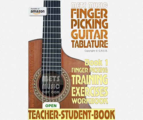 Finger Picking Guitar Tablature Book 1: Finger Picking Training Exercises (Fingerpicking Guitar Tablature)