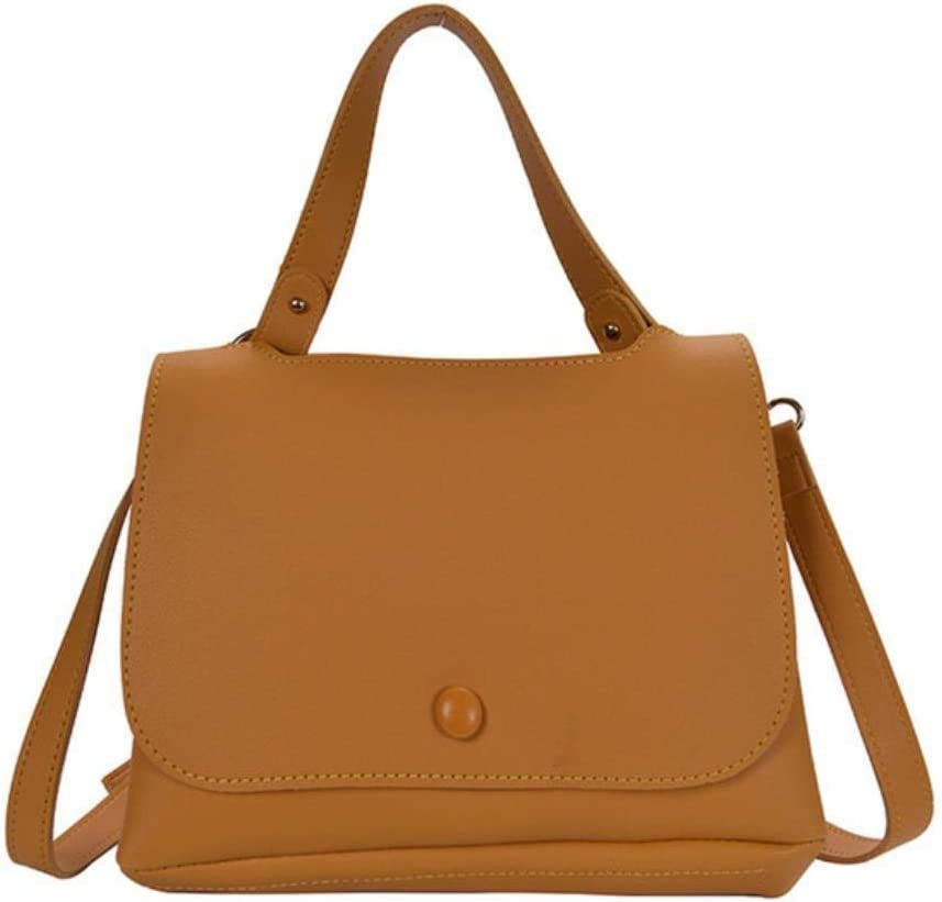 ABO - Bolsa de trabajo para mujer, diseño de cuello blanco, color caqui Amarillo