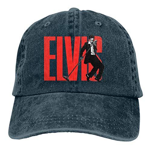 Obagaty Camiseta Elvis Presley Vintage Trucker Hats Cowboy Baseball Caps
