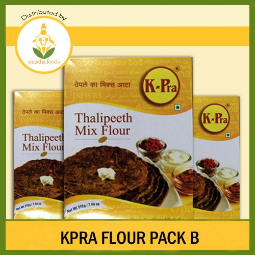 K-Pra Flour Pack B (Contains 10 packets of Thalipeeth Bhajani (Mix Flour)) Each Pkt 500g (T-L)